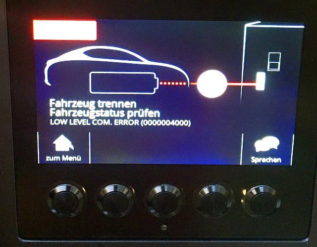 Protokollfehler am CCS-Anschluss zum VW e-Golf