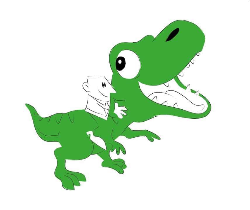 Wer den Dinosaurier reitet...
