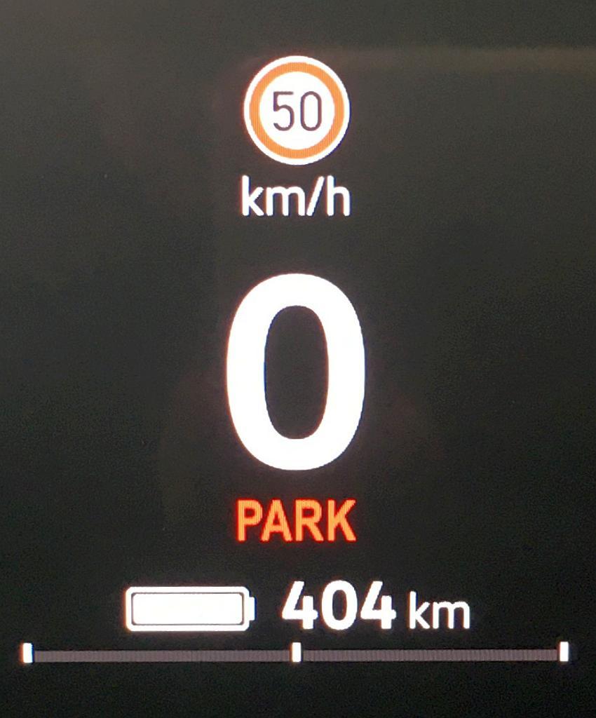 Der Akku des ID.3 ist voll: 404 Kilometer Reichweite
