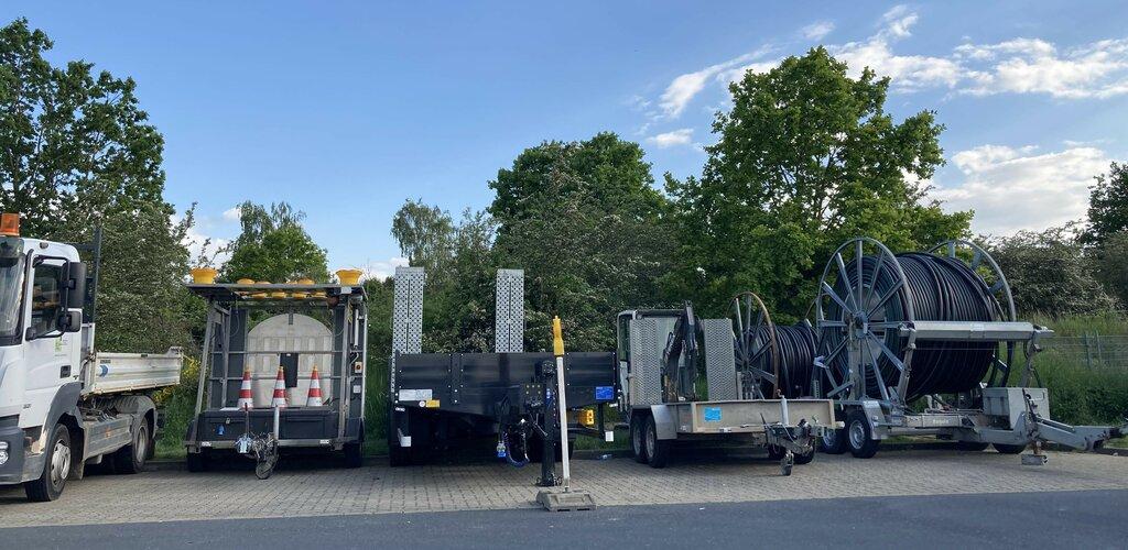 Bauvorbereitungen am zukünftigen Standort des Superchargers Wolfsburg